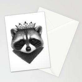 King raccoon Stationery Cards