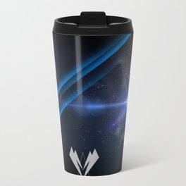 -0 blue Metal Travel Mug