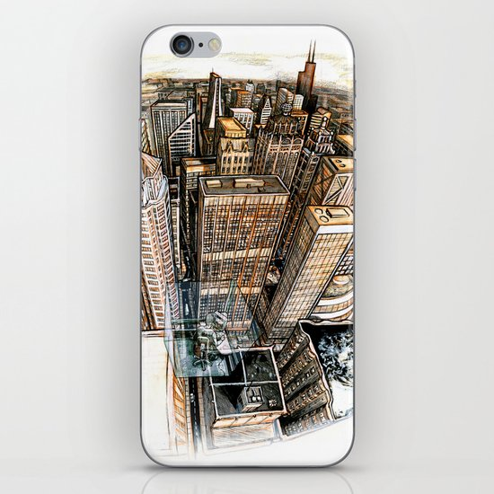 A cube with a view iPhone & iPod Skin