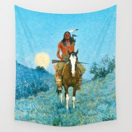 The Outlier by Frederic Sackrider Remington Wall Tapestry