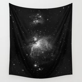 Galaxy (Black and White) Wall Tapestry