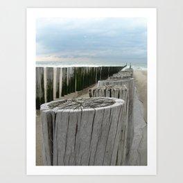 North Sea Break Art Print