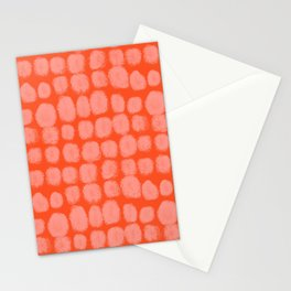 Orange Dotted Pattern Design Stationery Cards