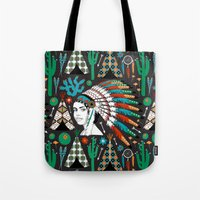 southwest Tote Bags featuring Southwest by Vannina