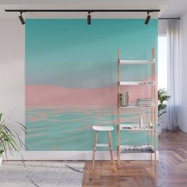 Pink Beach Wall Mural