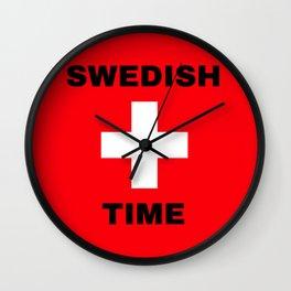 Sweden - Swiss Flag Wall Clock