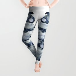 Indigo Abstract Watercolor No.1 Leggings
