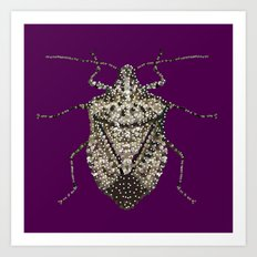 Stink Bug Bedazzled Art Print
