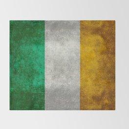 Flag of the Republic of Ireland, Vintage style Throw Blanket