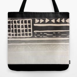 Flag Print- Black and White Tote Bag