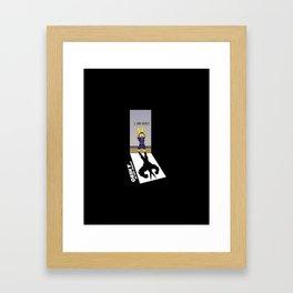 I Am Here! Framed Art Print