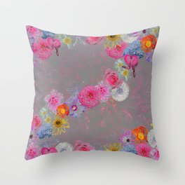 Flowers mixed Throw Pillow
