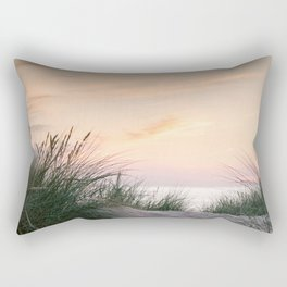 Dune grass at colourful pastel sunset | Painted sky at North Sea, Netherlands | Fine art travel photography Rectangular Pillow