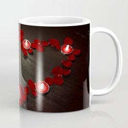 Valentine Heart of Rose Petals & Candles Coffee Mug