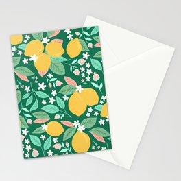 Spring Lemons2 Stationery Cards