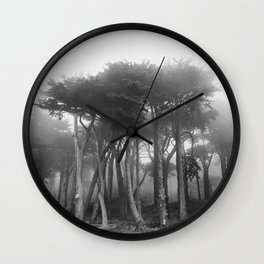 Fog Descends on Lands End Wall Clock