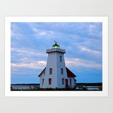 Wood Islands Lighthouse, The Green Lantern Art Print
