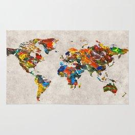 World Map 43 Rug