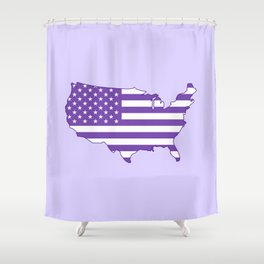 Make America Purple Again United States Map Shower Curtain