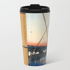 Hiroshige, Inari bridge and Minato shrine, Teppōzu Metal Travel Mug