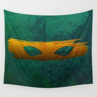tmnt Wall Tapestries featuring TMNT Mikey by Some_Designs