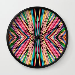 Toothpick Fusion Abstract Pattern Wall Clock