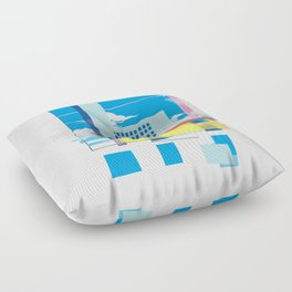 funky town Floor Pillow