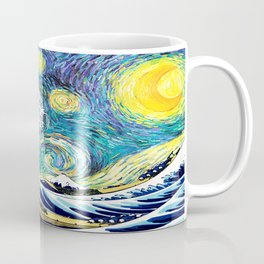 Starry Wave Night Coffee Mug