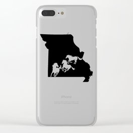 Missouri Fox Trotter Horse Lover Black Clear iPhone Case