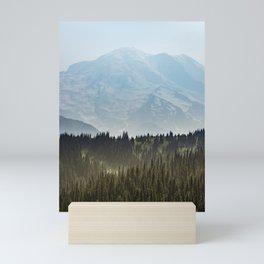 Epic Forest Mountain Adventure - Mount Rainier National Park Mini Art Print