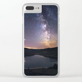 (RR 294) Milky Way above Lough Tay - Ire Clear iPhone Case