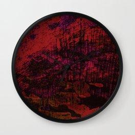 Flora Celeste Ruby Tree Texture Wall Clock