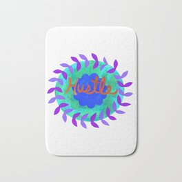 Hustle-Teal Bath Mat