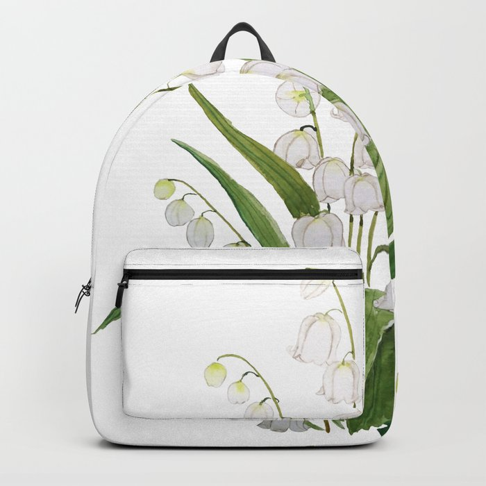 white lily of valley Backpack