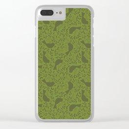 Birdie Bundle - green Clear iPhone Case