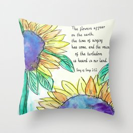 Flowers of the Earth Appear Throw Pillow