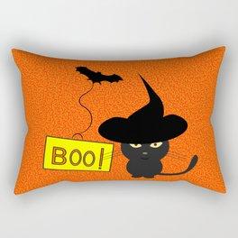 Cute cat on Halloween Rectangular Pillow