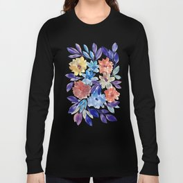 hand painted flowers_3c Long Sleeve T-shirt