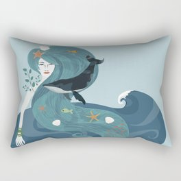 Aquatic Life of a Seaflower Rectangular Pillow