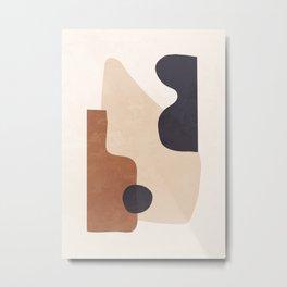 Abstract Minimal Shapes 32 Metal Print