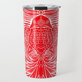 The Red Goldfish Travel Mug