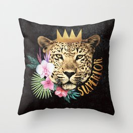 superior in the jungle Throw Pillow