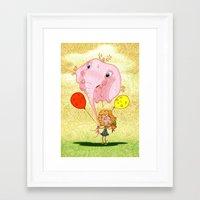balloon Framed Art Prints featuring balloon by José Luis Guerrero