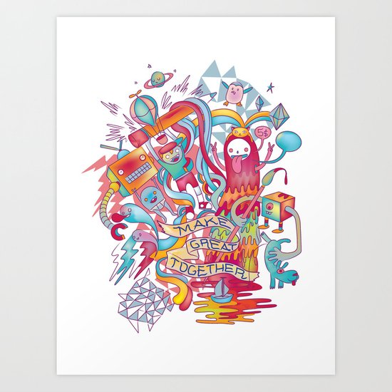 Together We're Awesome! Art Print