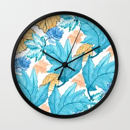 Leaf pattern 2 Wall Clock