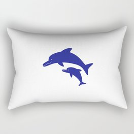 Parent-child of dolphin Rectangular Pillow