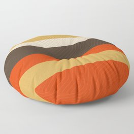 Retro Zigzag Geometric Pattern Floor Pillow