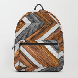 Urban Tribal Pattern No.4 - Wood Backpack