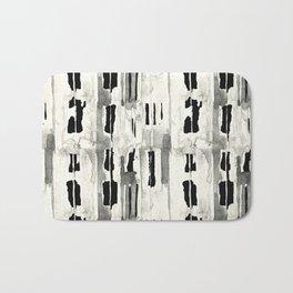 Minimal Black and Cream Abstract Design Bath Mat