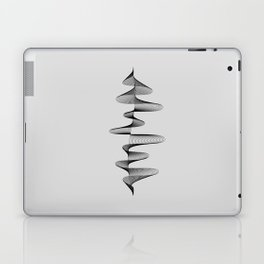 Abstract 80s Soundwave Art Music Audio black and white Musical design home wall bedroom decor Art Pr Laptop & iPad Skin